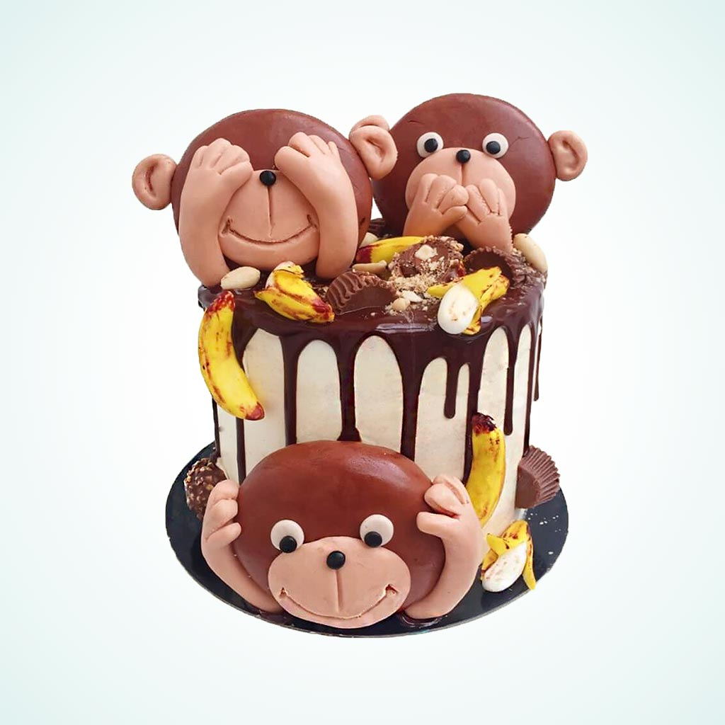 Pleasing Kids Monkey Business Birthday Cake Anges De Sucre Funny Birthday Cards Online Alyptdamsfinfo