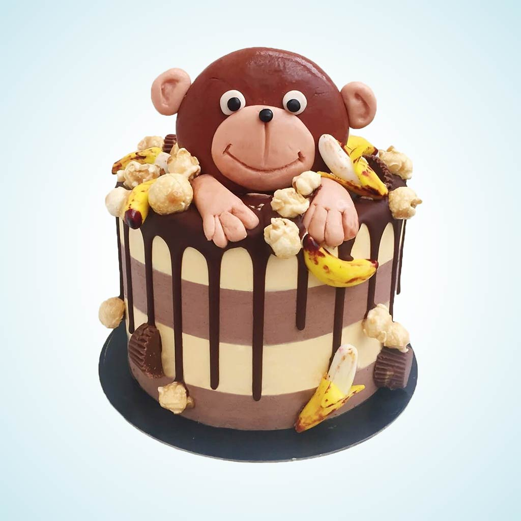 Pleasant Marcel The Monkey Birthday Cake Anges De Sucre Funny Birthday Cards Online Alyptdamsfinfo