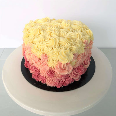 Ombre Heart Cake 2