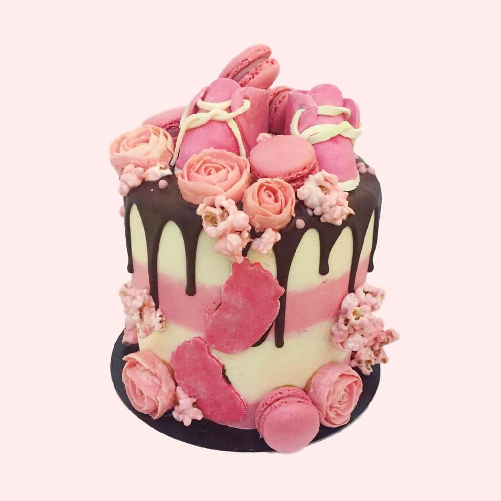 Pretty In Pink Baby Shower Cake Anges De Sucre