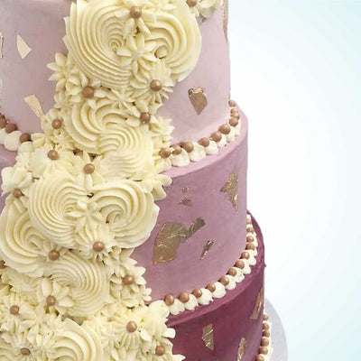 Purple Wedding Cake London