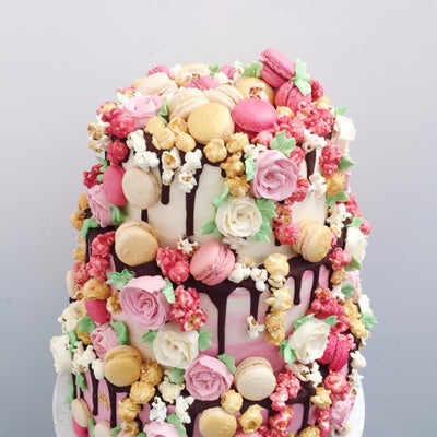 Rose Romance Wedding Cake 3