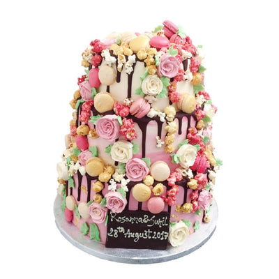 Rose Romance Wedding Cake 4