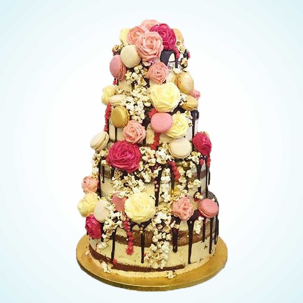 Floral Autumn Wedding Cake