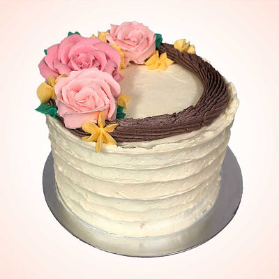 Rustic Flower Wreath Cake