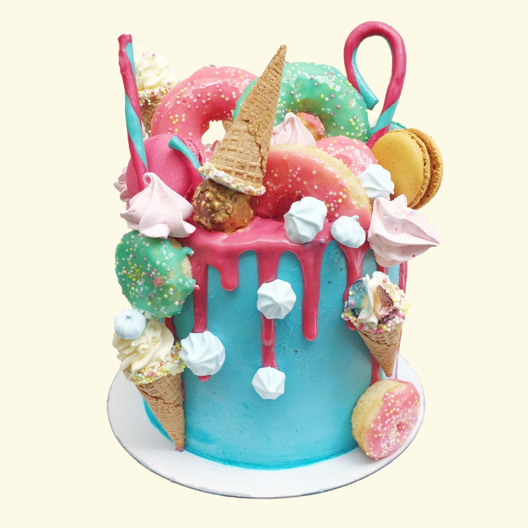 Triple Decker Fun Fair Unicorn Cake
