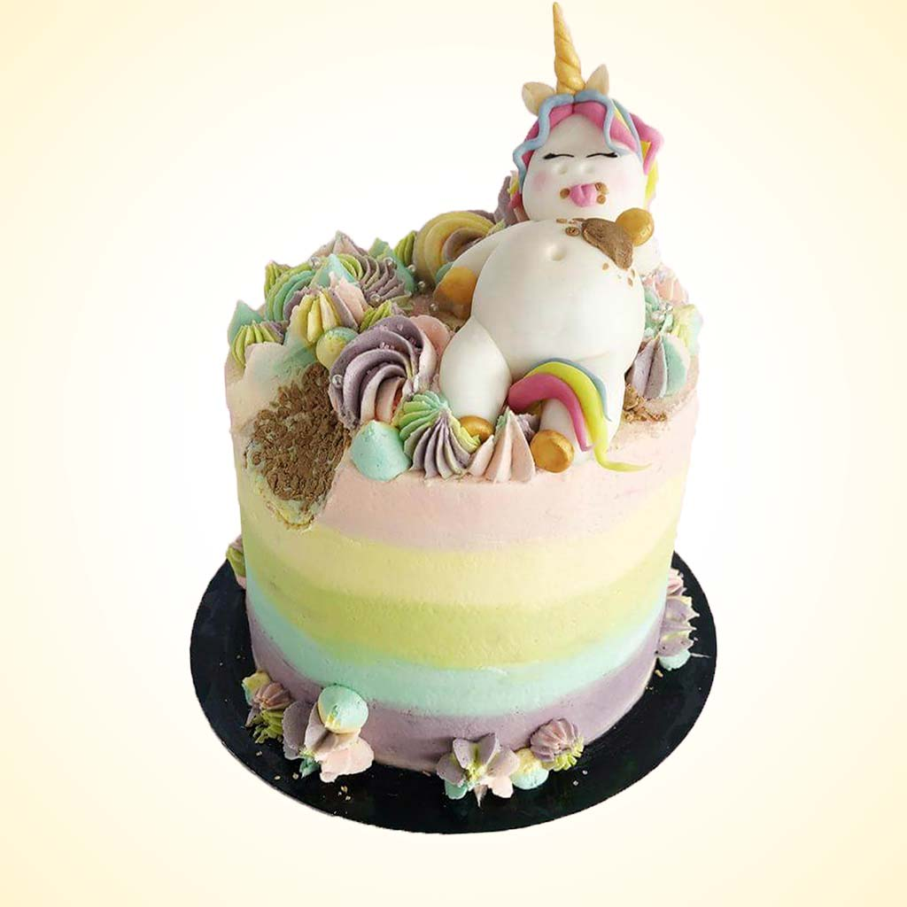 Vegan Fat Unicorn Cake