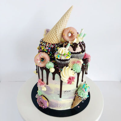 Vegan Ice Cream Drip Cake Delivered