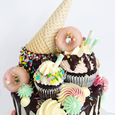 Vegan Ice Cream Drip Cake To Order