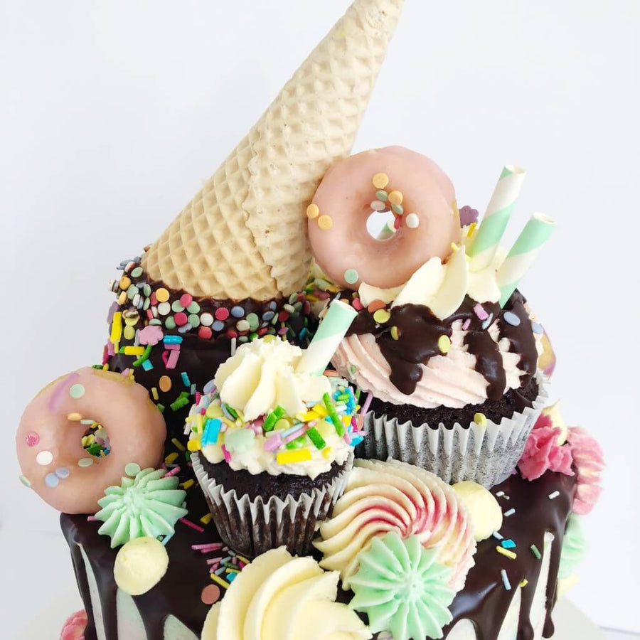 Vegan Ice Cream Drip Cake