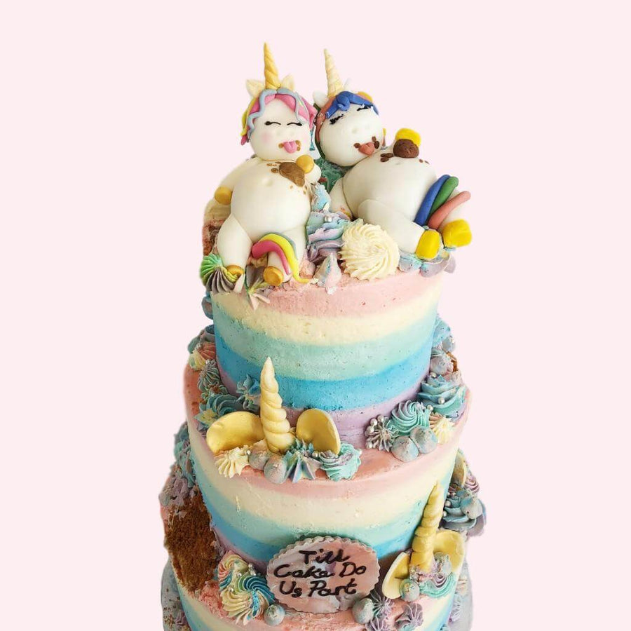 Vegan Fat Unicorns Wedding Cake
