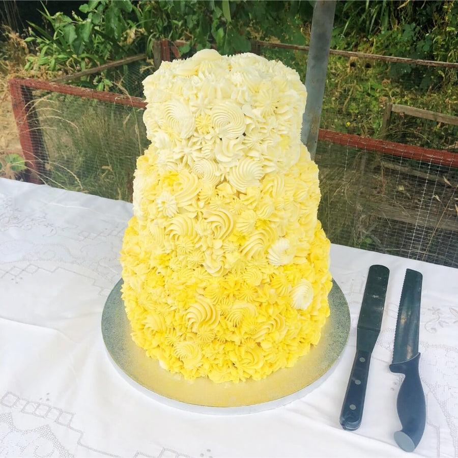 Yellow Summer Love Wedding Cake