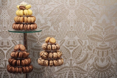 small macaron towers. Image: Cal Wootton
