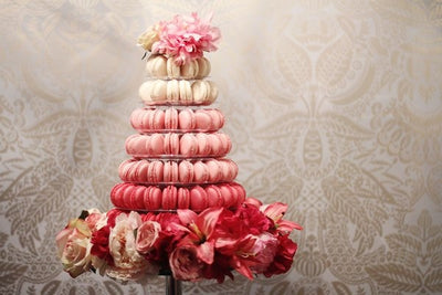 Ombre macaroon tower UK. Image: Cal Wootton
