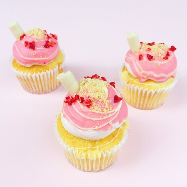 Strawberry Milkshake Cupcakes London