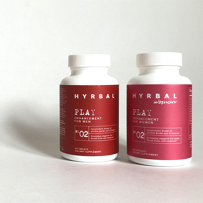 Hyrbal Play Duo for Couples with Herbs and Vitamins