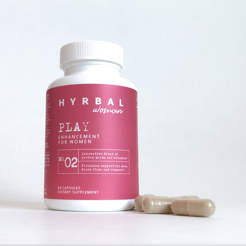 Hyrbal Play for Women Front with Capsules