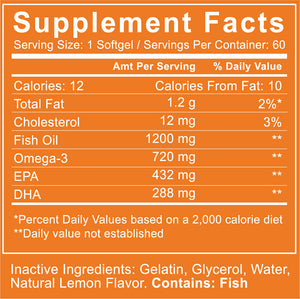 Hyrbal Protect Omega-3 Fish Oil with Supplement Panel Zoom