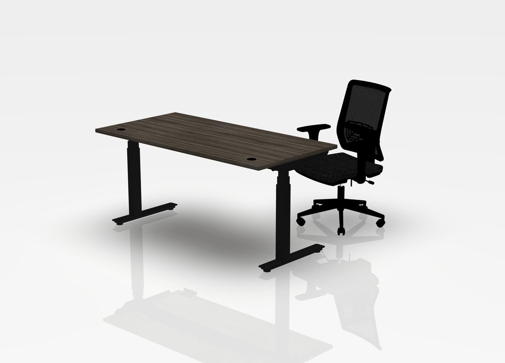 Think Desk (sit to stand) + Chair