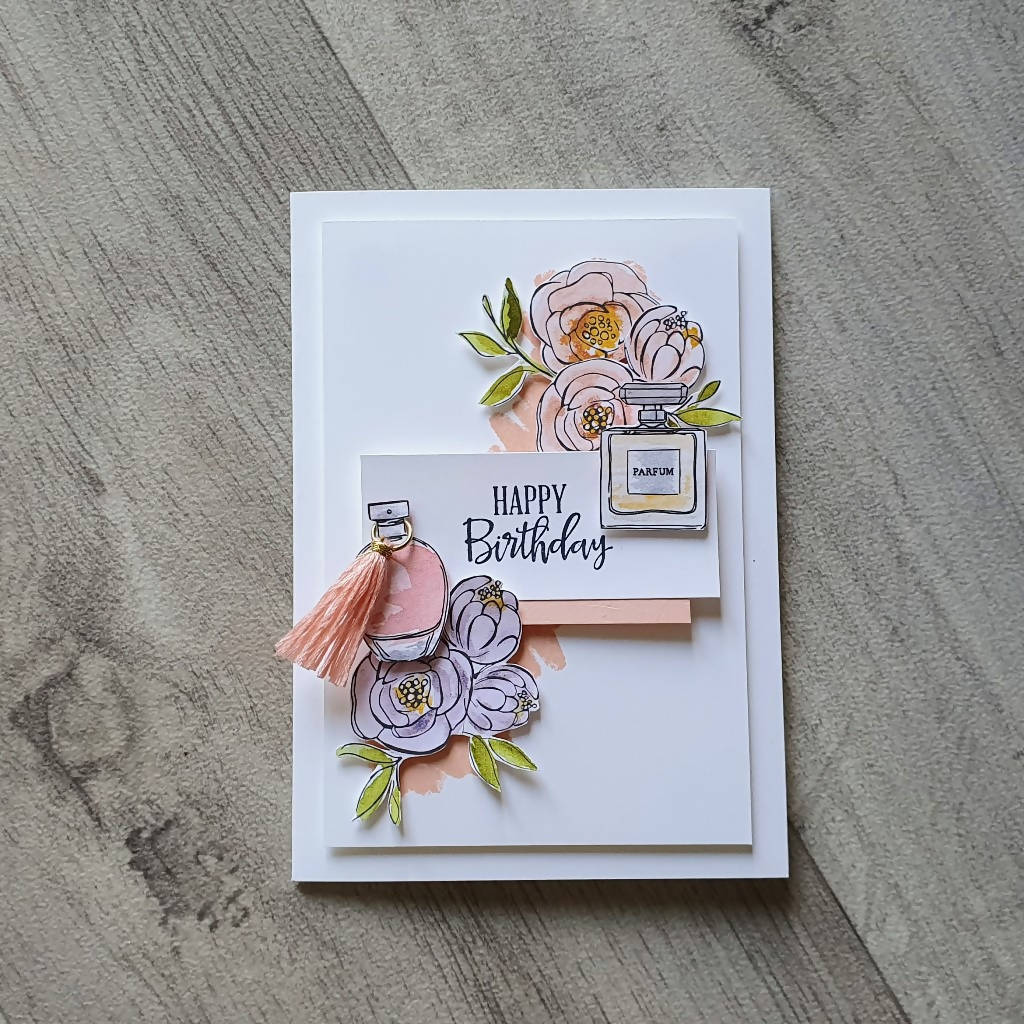 Perfume and Flowers Card