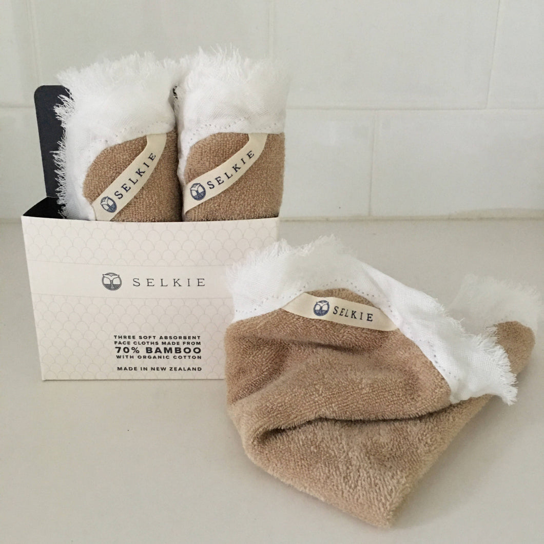 Selkie Face Cloths - Organic Bamboo, Terry