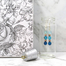 Load image into Gallery viewer, Agate Ombre sterling silver earrings in Jewellery bottle
