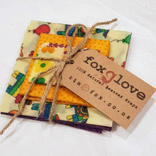 Load image into Gallery viewer, Foxglove Beeswax Food Wrap Packs (Various Pack Sizes)