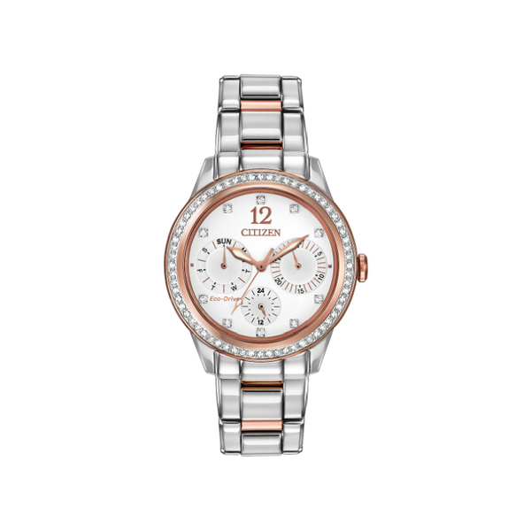 Citizen Eco-Drive Ladies' Two Tone Crystal Watch FD2016-51A