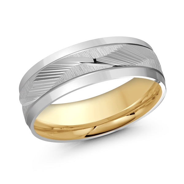 10K White & Yellow 7mm Wedding Band