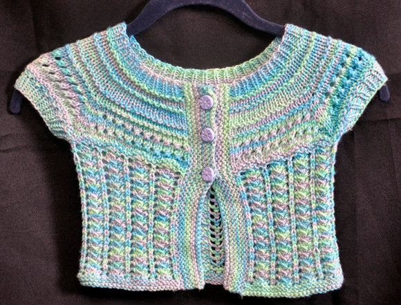 Hand Knit Patterns - Sweaters - 3 Button Baby Sweater