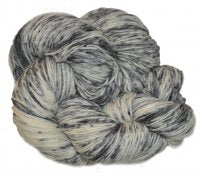 Speckled BFL Platinum - Grey Scale