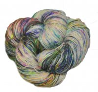Speckled BFL Platinum - Unicorn Drool