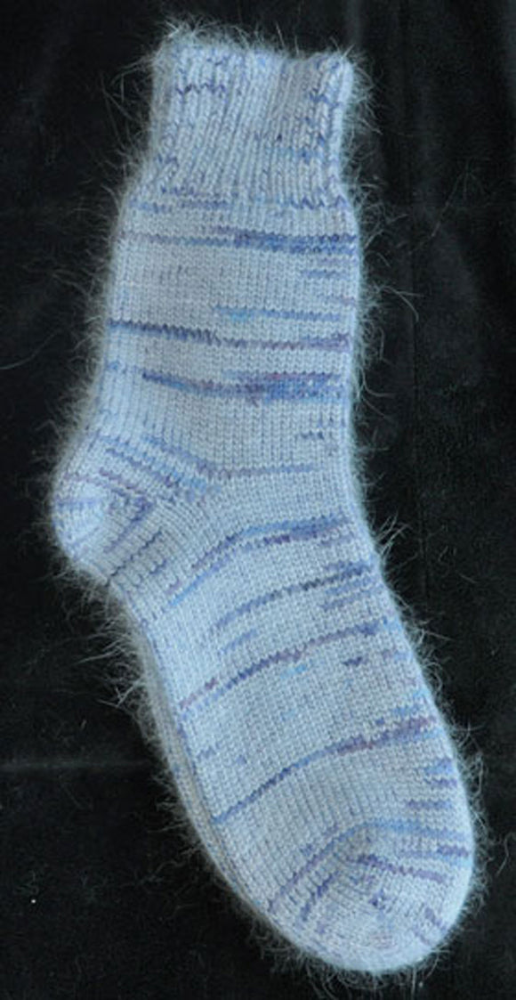 Socks - Blue Angora, BFL, and Nylon