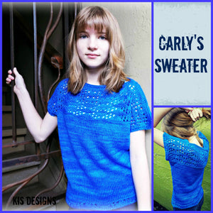 Hand Knit Patterns - Sweaters - Carly's Sweater