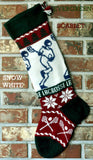 Personalized Knit Wool Christmas Stocking - Lacrosse