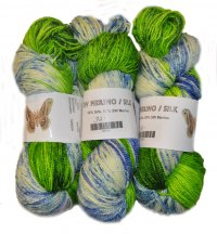 Speckled Merino Silk - Seahawks