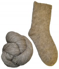 New Zealand Possum Yarn - Natural Light Brown - Fingering/Sport Weight