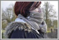 Hand Knit - Shawls and Shawlettes - Possum Infinity Scarf One Page Pattern