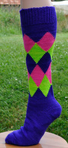 Sock Machine Sock Patterns - Diamond Argyle Socks