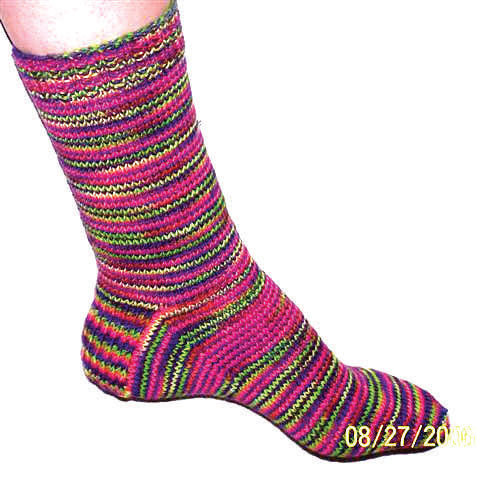 Hand Knit Sock Pattern - Basic Hand Knit Sock