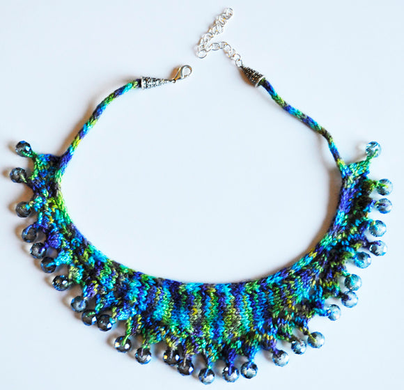Hand Knit Jewelry Patterns - Bead-Dazzled Necklace