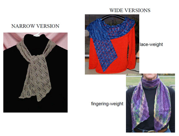 Hand Knit - Shawls and Shawlettes - Climbing Vine Scarf
