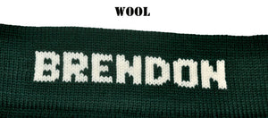 Large Personalized Knit Wool Christmas Stocking - The Golfer