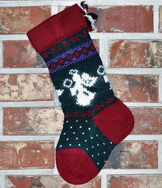 Small Knit Wool Christmas Stocking - Angora Angels