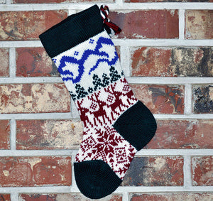 Small Knit Wool Christmas Stocking - Scandinavian