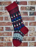 Large Personalized Knit Wool Christmas Stocking - Toy Soldiers
