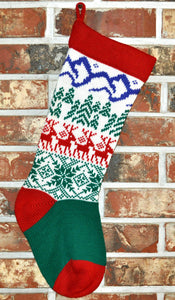 Medium Knit Personalized Wool Christmas Stocking - Scandinavian