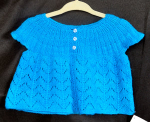 Hand Knit Patterns - Sweaters - Lacy Baby Top