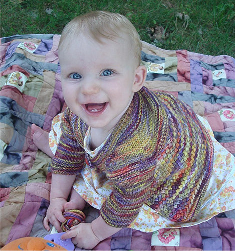 Hand Knit Patterns - Sweaters - Love Me Tender Baby Sweater