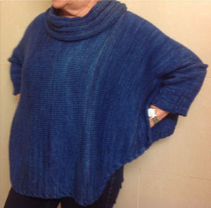 Hand Knit Patterns - Sweaters - Linda's Cable Edge Poncho